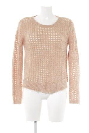 Betty Barclay Rundhalspullover apricot Lochstrickmuster Street-Fashion-Look