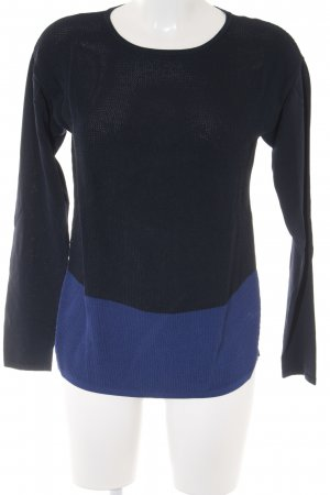 Betty Barclay Jersey de cuello redondo azul oscuro-azul look casual
