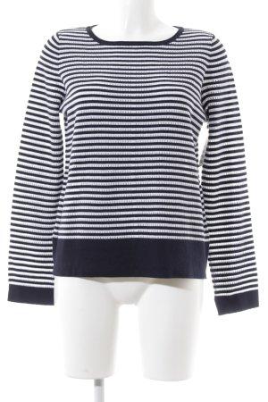 Betty Barclay Rundhalspullover dunkelblau-weiß Streifenmuster Marine-Look