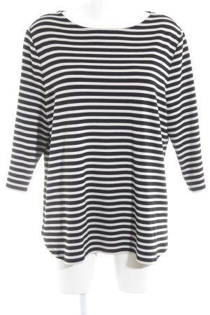 Betty Barclay Kraagloze sweater zwart-licht beige gestreept patroon