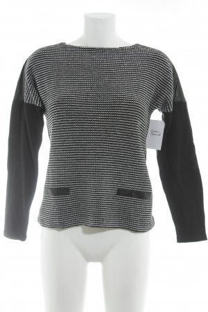 Betty Barclay Jersey de cuello redondo negro-blanco estampado a rayas
