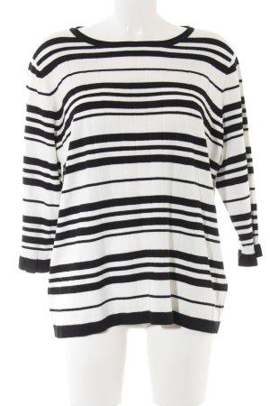 Betty Barclay Rundhalspullover schwarz-weiß Streifenmuster Casual-Look