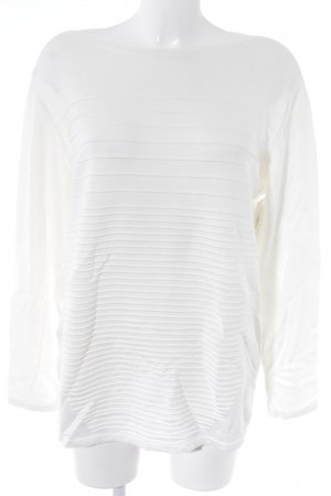 Betty Barclay Jersey de cuello redondo blanco puro look casual