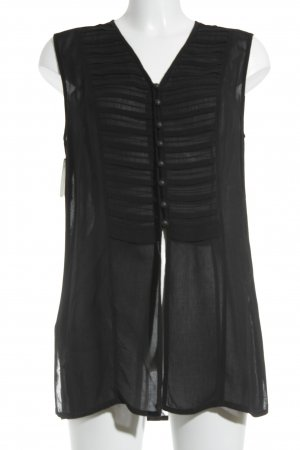 Betty Barclay schulterfreies Top schwarz Boho-Look