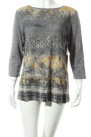 Betty Barclay Shirt grau-dunkelgelb abstraktes Muster Casual-Look