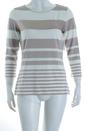 Betty Barclay Shirt wollweiß-hellgrau Ringelmuster Casual-Look