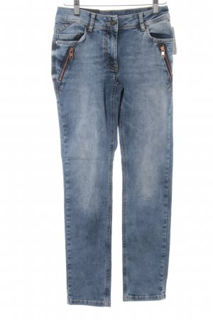 Betty Barclay Slim Jeans stahlblau Street-Fashion-Look