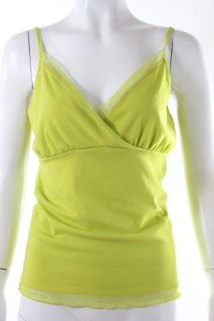 Betty Barclay Haut à fines bretelles jaune citron vert nylon