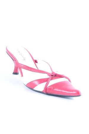 Betty Barclay Spitse pumps rood-wit gestreept patroon elegant