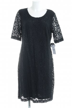 Betty Barclay Vestido de encaje azul oscuro estilo romántico