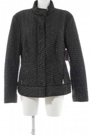Betty Barclay Chaqueta acolchada negro estampado acolchado look casual
