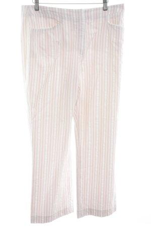 Betty Barclay Stoffhose wollweiß-rosé Nadelstreifen Elegant