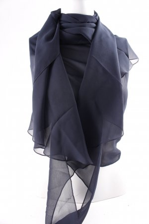 Betty Barclay Étole bleu foncé style romantique