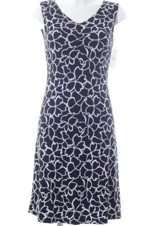 Betty Barclay Stretchkleid schwarz-weiß florales Muster klassischer Stil