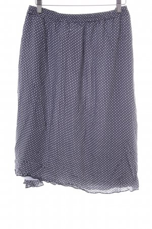 Betty Barclay Stretch rok donkerblauw-wit gestippeld patroon