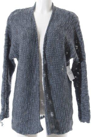 Betty Barclay Strick Cardigan blassblau-graublau Fischgrätmuster Kuschel-Optik