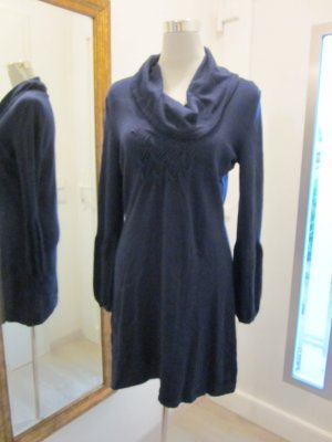 Betty Barclay Strick Kleid dunkelblau Gr M