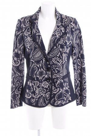 Betty Barclay Knitted Blazer dark blue-light grey paisley pattern casual look