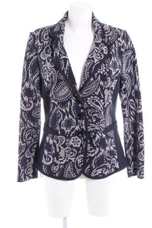 Betty Barclay Blazer in maglia blu scuro-grigio chiaro motivo paisley