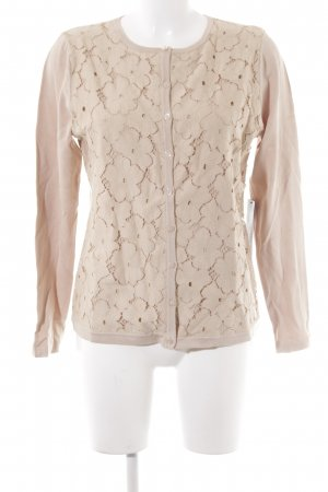 Betty Barclay Strickjacke beige florales Muster Casual-Look