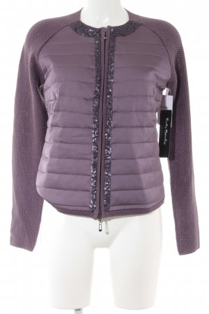 Betty Barclay Strickjacke blauviolett Steppmuster Elegant