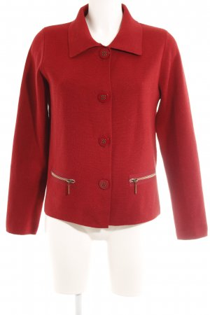 Betty Barclay Strickjacke dunkelrot Casual-Look
