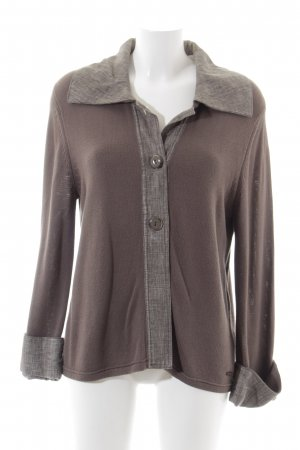 Betty Barclay Strickjacke hellbraun-grau Casual-Look