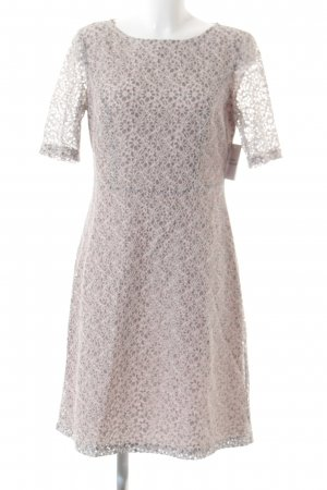 Betty Barclay Strickkleid grau-rosé Blumenmuster Elegant