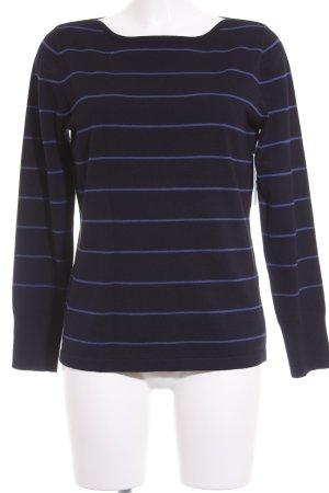 Betty Barclay Maglione lavorato a maglia blu scuro-blu motivo a righe