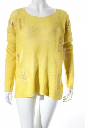 Betty Barclay Strickpullover gelb Casual-Look