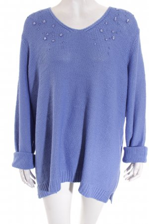 Betty Barclay Strickpullover stahlblau Casual-Look