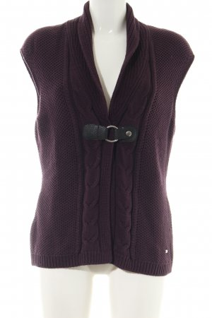 Betty Barclay Knitted Vest lilac cable stitch casual look