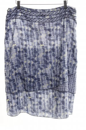 Betty Barclay Broomstick Skirt blue-primrose mixed pattern transparent look