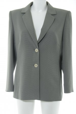 Betty Barclay Sweatblazer grau-creme Hahnentrittmuster Business-Look