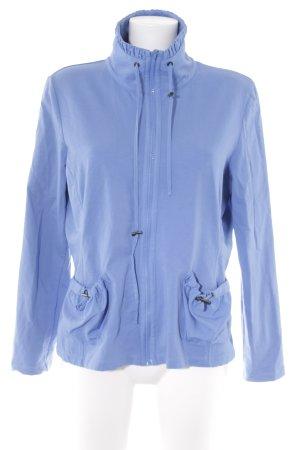 Betty Barclay Sweatjack blauw-zilver casual uitstraling