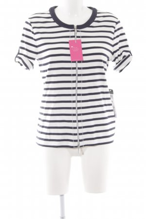 Betty Barclay Sweatjack wit-donkerblauw gestreept patroon casual uitstraling