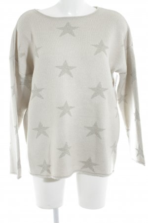 Betty Barclay Sweatshirt beige-goldfarben Sternenmuster Street-Fashion-Look
