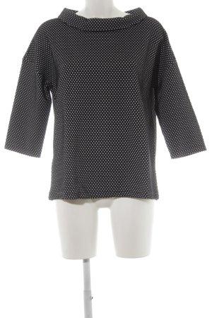 Betty Barclay Sweatshirt schwarz-weiß Punktemuster Casual-Look