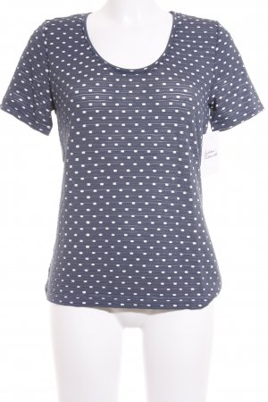Betty Barclay T-Shirt dunkelblau-weiß Punktemuster Casual-Look