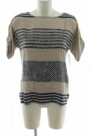 Betty Barclay Camiseta beige claro-azul oscuro Mezcla de patrones look casual