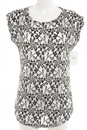 Betty Barclay Camiseta negro-blanco estampado floral look casual