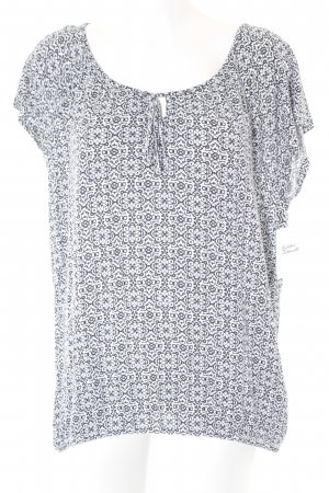 Betty Barclay T-Shirt weiß-dunkelblau abstraktes Muster Casual-Look