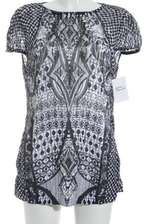 Betty Barclay Camiseta blanco-negro estampado con diseño abstracto look casual