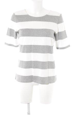 Betty Barclay T-Shirt wollweiß-grau Streifenmuster schlichter Stil