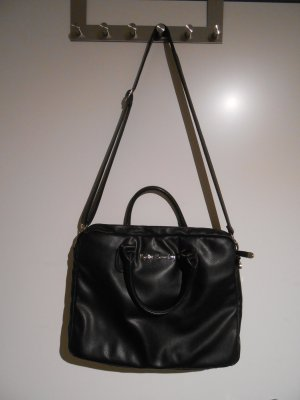 Betty Barclay Borsa pc nero-color cammello Finta pelle