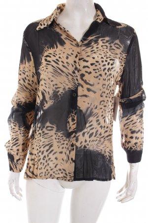 Betty Barclay Transparenz-Bluse schwarz-braun Animalmuster extravaganter Stil