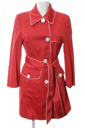Betty Barclay Trenchcoat rot-weiß Casual-Look