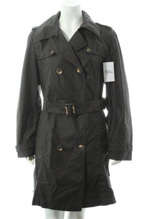 Betty Barclay Trenchcoat dunkelgrün-ocker klassischer Stil