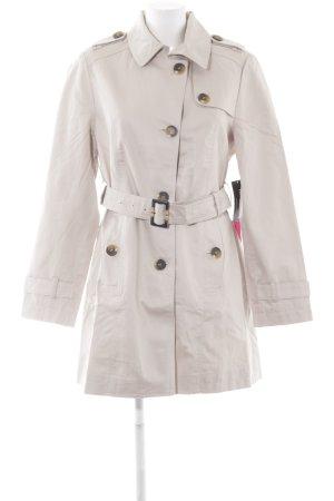 Betty Barclay Trenchcoat grijs-bruin simpele stijl
