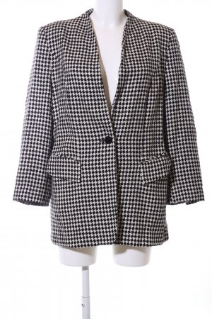 Betty Barclay Tweedblazer schwarz-weiß grafisches Muster Business-Look